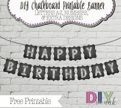 chalkboard letters for banners free printable diy swank