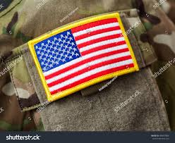 Military Flag Patch Closeup Usa Flag Patch On Army Stock Photo 499097806 Shutterstock