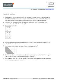 grade 7 olympiad printable worksheets online practice online