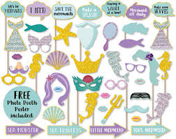 Mermaid Decorations For Party Mermaid Party Favors Etsy
