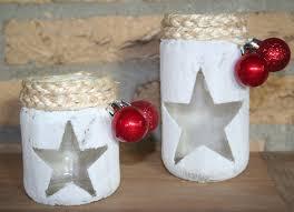 met stijfsel zout lege potjes touw en kerstballetjes heb je