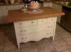 Repurposed Dresser Kitchen Island - repurposed dresser made into kitchen island dream home