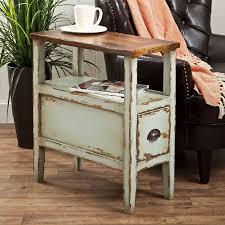 Rustic Wood Furniture Diy Diy Rustic End Tables White Finger