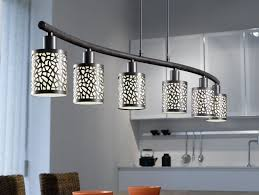 linear pendant lighting lighting ideas 6 lights linear pendant lamp over dining table by