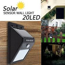 bentag 20 led 1w solar motion sensor outdoor wall light pack of 1