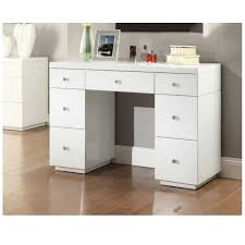 Glass Vanity Table With Mirror White Glass Mirrored Dressing Table Mirror Furniture