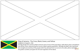 jamaica flag coloring page central america and caribbean flags