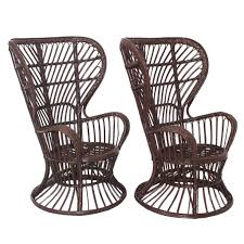 Wicker Chair Wicker Chairs Designed By Lio Carminati Italy Circa 1948 For