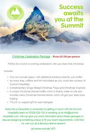 christmas packages summit hospitality summit hospitality