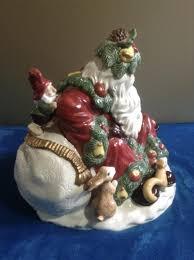 Spode Christmas Tree Santa Cookie Jar by Fitz U0026 Floyd Woodland Santa Large Cookie Jar Limited Edition 1991