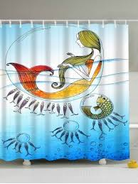 Snowman Shower Curtain Target Blue 180 200cm Mermaid Water Drop Print Waterproof Shower Curtain