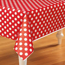 red white polka dot table covers red polka dot dessert plates red party supplies this party started