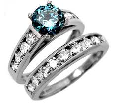 blue diamond wedding rings blue wedding ring set blue diamond wedding ring set kubiyige