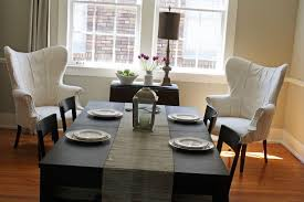 furniture diningroom elegant dining room table decor with cutlery