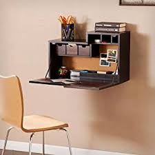 wall mounted desk amazon amazon com dover wall mount desk in black kitchen dining