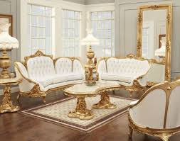 Living Room Brown Leather Sofa Living Room Elegant Victorian Style Living Room Design With Gold