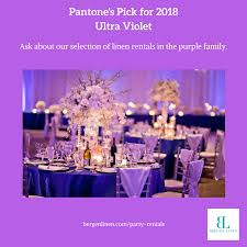 party linen rentals bergen linen ultra violet party linen rentals and other shades