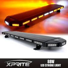 led security light bar xprite amber black hawk 48 led security warning roof top strobe
