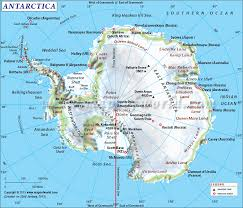 Labeled Map Of North America by Antarctica Map Map Of Antarctica