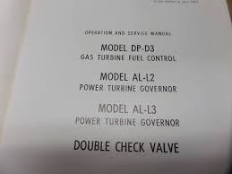 bendix dp d3 turbine fuel control al l2 al l3 governor operation