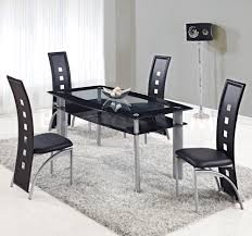 Modern Dining Sets Tables With Chairs And Benches - Black glass dining room sets