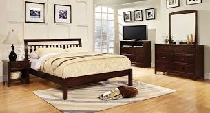 Bedroom Furniture Espresso Finish Amazon Com Furniture Of America Vaughn Mission Style Platform Bed