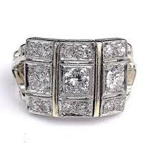 antique art deco diamond wedding engagement ring circa 1950 u0027s 1 00