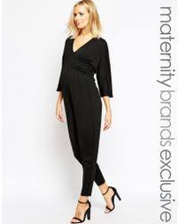 maternity jumpsuits lyst shop s bluebelle maternity jumpsuits from 13