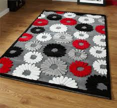 Red Black White Area Rugs Black Red Grey Rug Roselawnlutheran