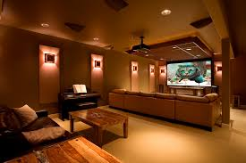 Basement Media Room Living Room Theater Smart Living Room Theaters Decor Ideas Trendy
