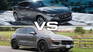 porsche cayenne models comparison 2017 maserati levante vs 2016 porsche cayenne road driving