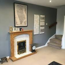 dulux natural slate feature wall with some personal artwork and a