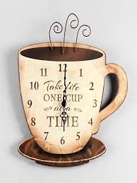 Coffee Wall Decor For Kitchen Rustic Wood Coffee Wall Clock Zallzo Com Products Pinterest