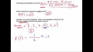 Example Of Introdu Probability Introduction And Examples With Sample Space Youtube