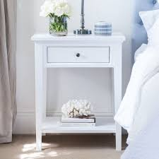 White Bedside Table White Bedside Table 1 Drawer