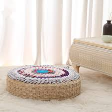 thai southeast asian national hand color embroidery round cushion