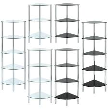 Corner Shelving Bathroom Bathroom Tension Pole Corner Shower Caddy Toilet Shelf Glass