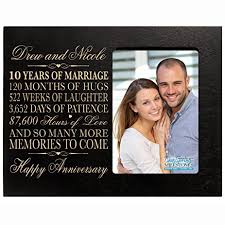 engraved anniversary gifts personalized ten year anniversary gift him