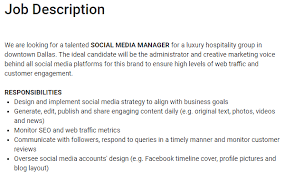 fashion marketing coordinator job description social media manager vs community manager sprout social