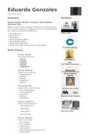 Barback Resume Examples by Busser Resume Samples Visualcv Resume Samples Database