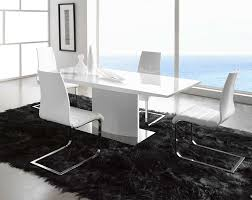 fabulous modern dining table with sweet fur rug closed square