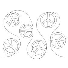 peace sign bright designs