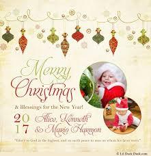 merry ornaments photo card 2018 festive
