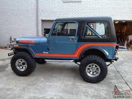 new jeep renegade lifted jeep cj7 renegade original paint unrestored cj super solid lifted 4x4