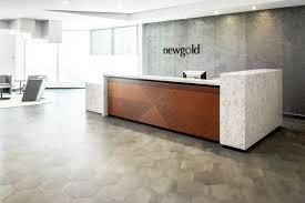 Reception Desk Custom White Quartz Corporate Office Reception Desk New Gold Inc