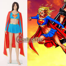 Custom Halloween Costume Custom Dc Comics Supergirl Cosplay Costume Red Version