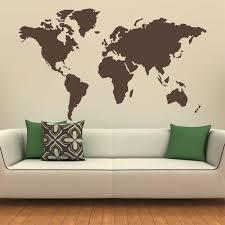 globe wall art shenra com map of the world silhouette wall decal globe wall decal wall