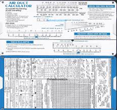 area calculater duct sizing calculator slide chart graph ebay