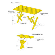 Free Plans For Outdoor Picnic Tables by 10 Best Picnic Table Ideas Images On Pinterest Outdoor Tables