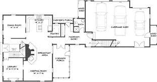 Floor Plans With Wrap Around Porch Colonial House Farmhouse Plan By Classic Colonial Homes Note